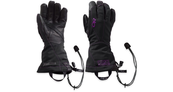Outdoor Research W's Luminary Sensor Gloves 66C-Black / Ultraviolet